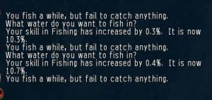The fishing experience in UO.