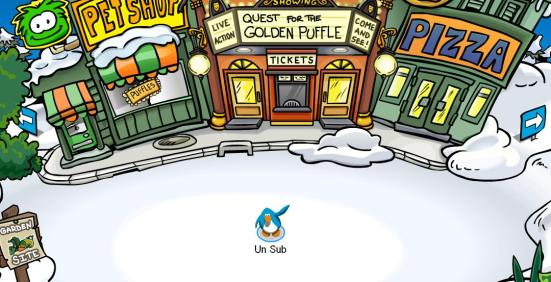 UnSub waves hi from Club Penguin