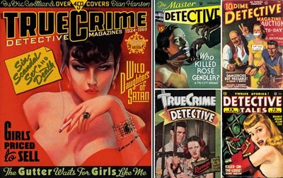 True Crime pulp novels