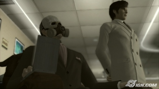 A screenshot from Deadly Premonition