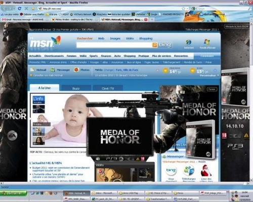 Medal of Honor pop-up ad with a baby background. Not good.