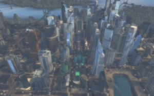 Metropolis in DCUO - Bird's eye view