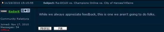 DCUO vs ChampO vs CoH/V