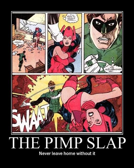 Green Lantern Pimp Slap
