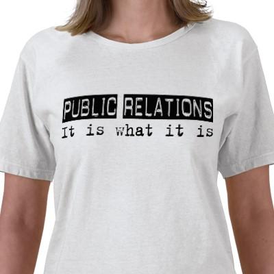 Public Relations t-shirt