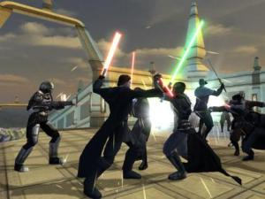Star Wars: The Old Republic fighting with lightsabers