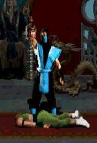 Sub Zeros fatality from the very first Mortal Kombat.