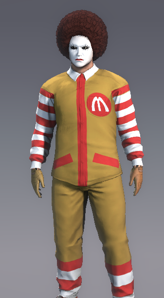 Ronald McDonald, as made in APB's character generator