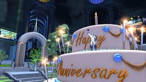 Champions Online anniversary cake