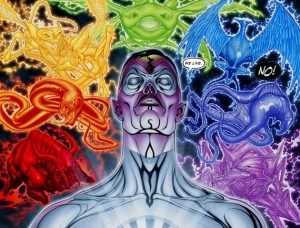 DC's Lantern Emotional Spectrum - the winged shark is the most well-known animal representation of willpower...