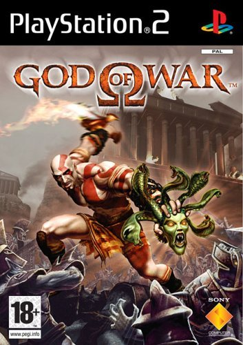 The God of War box art for the Playstation 2 title