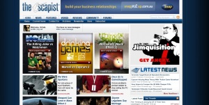 Screenshot of the Escapist. I can see only one banner ad.