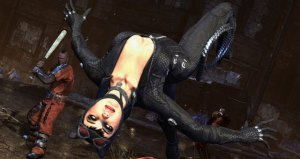 A shot of Catwoman in action from Batman: Arkham City