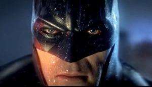 A close-up of Batman from Batman: Arkham City