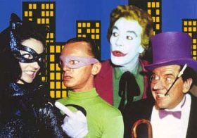 The Batman TV show villains - Catwoman, Riddler, Joker and Penguin