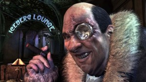Penguin from Batman: Arkham City. That's not a monocle over his eye; it's a broken bottle.