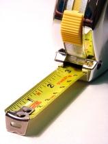 A tape measure