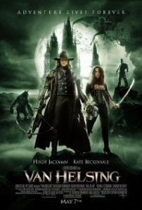 A poster for Van Helsing