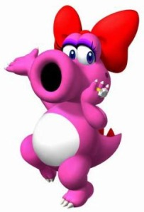 Birdo, all manly and pink