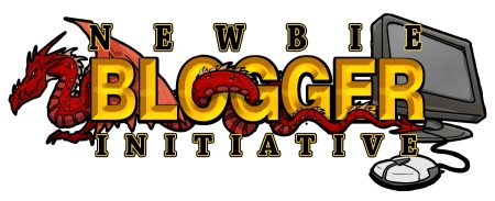 The New Blogger Initiative logo - it has a dragon and a computer on it.
