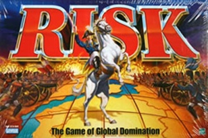 A visual representation of risk using the board game Risk. I'm so creative.