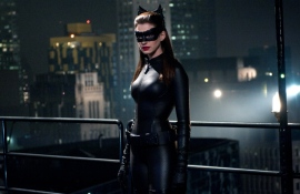 "Anne Hathaway as Selina Kyle in ""The Dark Knight Rises"""