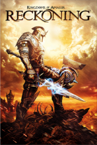 It's a man in fantasy armour holding a fantasy sword with a sun set behind him.