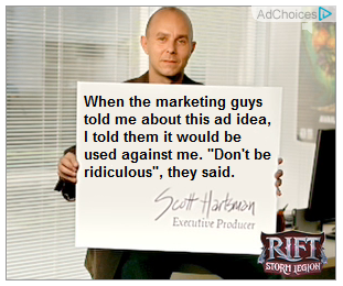 """The card says, """"When the marketing guys told me about this ad idea, I told them it would be used against me. """"Don't be ridiculous"""", they said."""""""