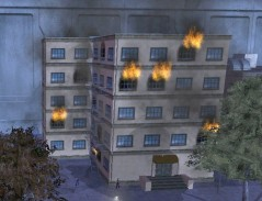 The Hellions set fire to a building in Steel Canyon