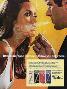 Tipalet's Blow Smoke in Her Face print ad.