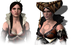 Philippa Eilhart and Síle de Tansarville from The Witcher 2.