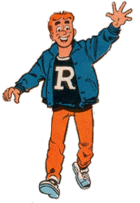 "It's an image of Archie waving ""hi"" to the viewer."