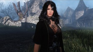 A screenshot from Black Desert of a dark-haired woman in black.
