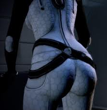 Mass Effect's Miranda's ass in white.