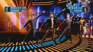 Han Solo dancing with friends from Star Wars Kinect.