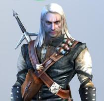 It's Geralt of Rivia. He seems to be missing his second sword though.