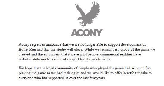 Acony's closing message.