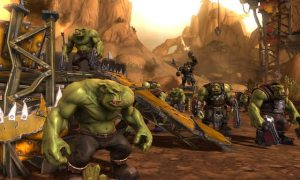 A picture of some space orks from Warhammer 40K: Dark Millenium.