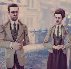 Robert and Rosalind Lutece from Bioshock: Infinite