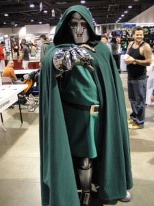 A Doctor Doom cosplay