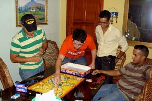 Four people playing Risk. In Venezuala, apparently.
