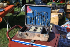 Some secondhand tools at a flea market.
