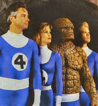 "A picture from the unreleased Roger Corman ""Fantastic Four"" film."