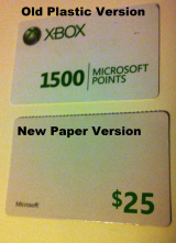 Xbox: Paper orPlastic?