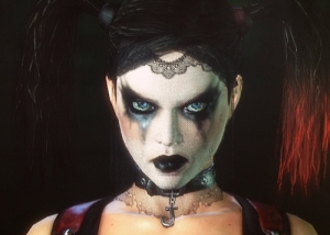 A picture of Harley Quinn from the Harley Quinn's Revenge DLC.