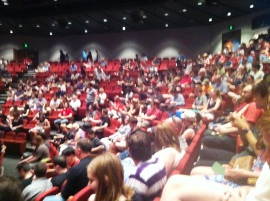 A slightly blurry shot showing the crowd at Session 4, I think.