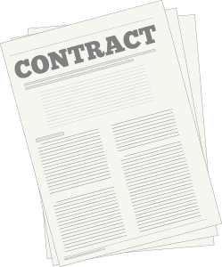 A picture of a contract.