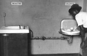 The classic-and-still-horrible segregated drinking fountain image.