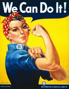 The famous (and apparently mistitled) Rosie the Riveter image.