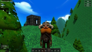 It's a dwarf on a hill near a black building, taken from Yogventures.